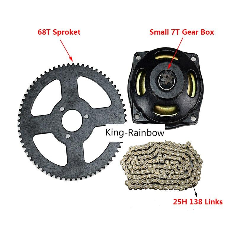 TDPRO 17T T8F Gear Box Clutch Drum Bell Housing /& 8F 54T Rear Chain Sprocket /& T8F Chain /& Clutch Pad for 47cc 49cc Mini Pocket Dirt Bike ATV