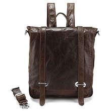 Fashion Style 100% Genuine Leather Laptop Bag Messenger Backpack Bag  # 7064R