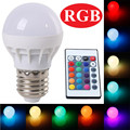 LED RGB Bulb Lamps E27 AC110V 220V 85-265V 3W LED RGB Spot Lighting Dimmable RGB Bulb Light With 24KEY IR Controller MIRSOU