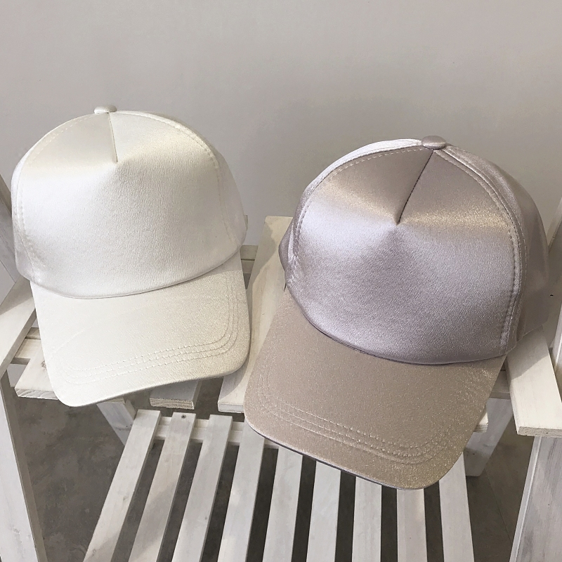 Fashion Satin Solid Color Sun Visor Cap Women Men Visors Caps 2018 Summer New Hot Casual Female Male Cute Caps Visors