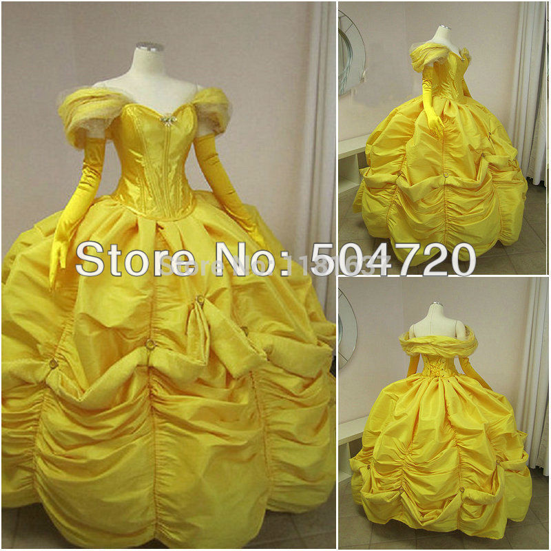 Freeshipping!1800S Yellow Civil War Southern Belle Ball Gown Dress