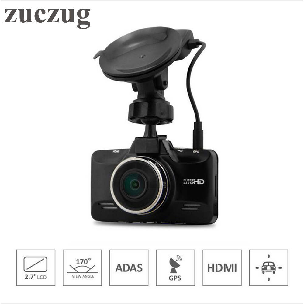 ZUCZUG Ambarella A7 GPS Car DVR Camera 2.7 Inch FHD Dash Camera 1296P 30fps Dashcam 178 5.0MP GPS HDR F1.8 H.264 G-Sensor цена