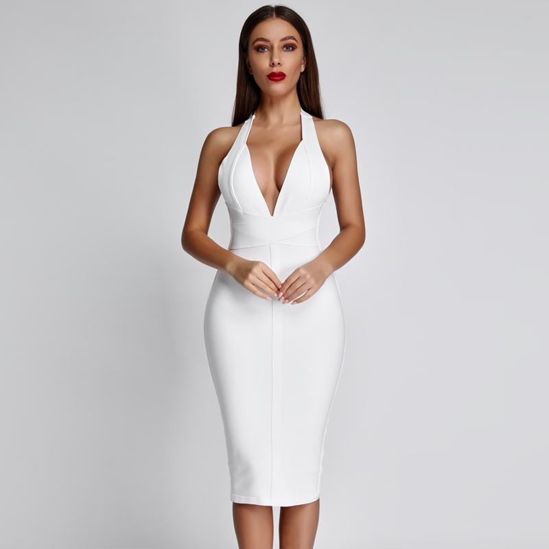 Bodycon Midi Lady Black