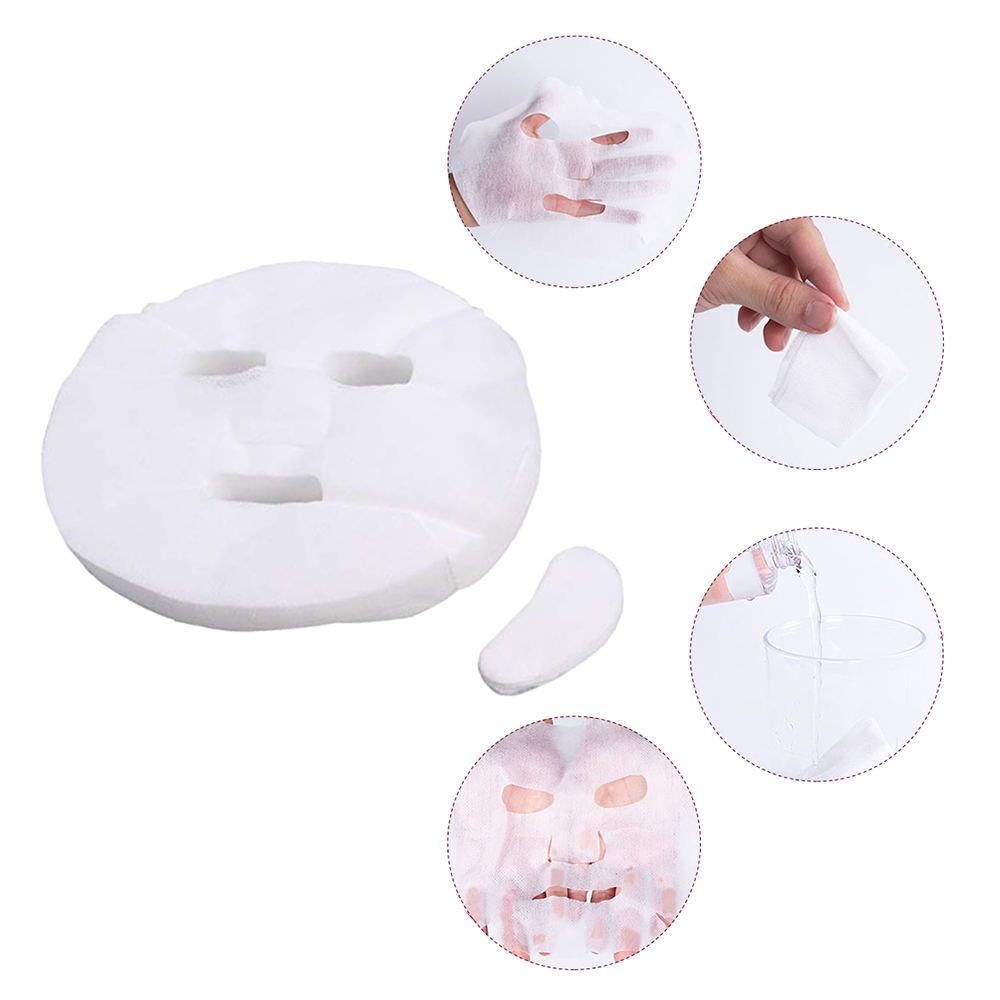 100pcs Disposable Facial Mask Pure Cotton Paper Facemask Sheet Ultra-Thin Diy Cosmetic Face Skin Care Mask Beauty Tools