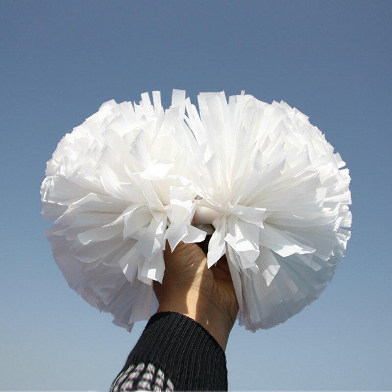 10 pièces Cheerleading Pom En Plastique Blanc 1,000*3/4