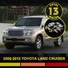 13x Car LED Interior Package Kit Map Dome Trunk Door Tag Light Fit For Land Cruiser