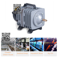 80W 88L/min Electromagnetic Super Air Compressor Oxygen for Fish Aqua Tank Outdoor Garden, Power Pond Pool Air Pump High Aerator