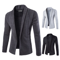 2019 Hot Sale Brand Clothing Autumn and winter Cardigan Male Fashion Solid Color Slim Sweater Men Casual Mens Sweaters