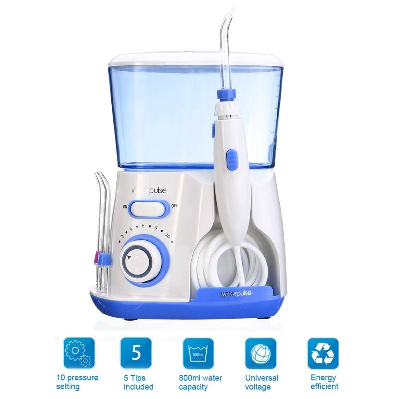 100-220V Waterpulse V300 Water Jet Pick Oral Irrigator Teeth Cleaner Dental Care 800ML Capacity Tooth Cleaner US Plug