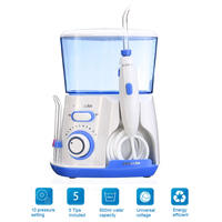 100 220V Waterpulse V300 Water Jet Pick Oral Irrigator Teeth Cleaner Dental Care 800ML Capacity Tooth Cleaner US Plug