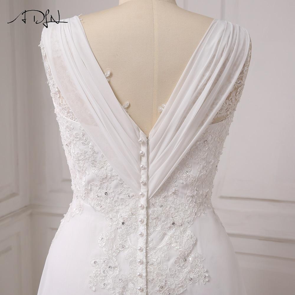 ADLN I lager Plus Storlek Bröllopsklänning Vit / Ivory Cap Sleeve - Bröllopsklänningar - Foto 6