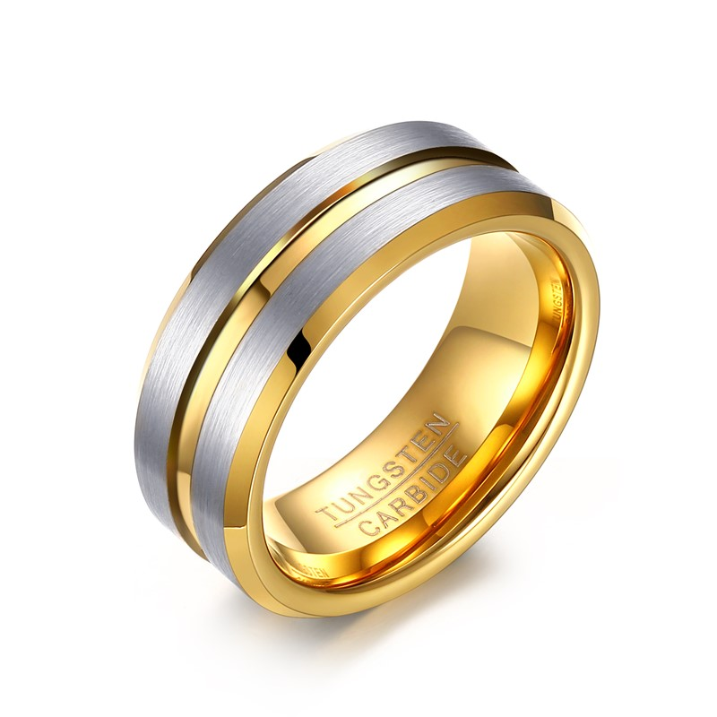 8 mm Anarchy Symbol Laser Engraved Tungsten Carbide Ring