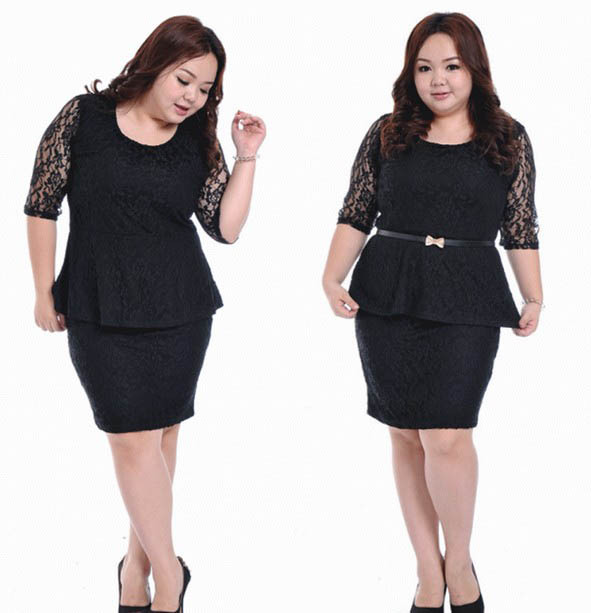 Plus Size Women Vestidos Skirts L Retro Lace Large Skirt And Tops Set