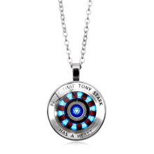 Marvel Super Hero Iron Man Cosplay ARC-REACTOR Tony Stark Necklace Toy Party Show Decoration Jouet Gift