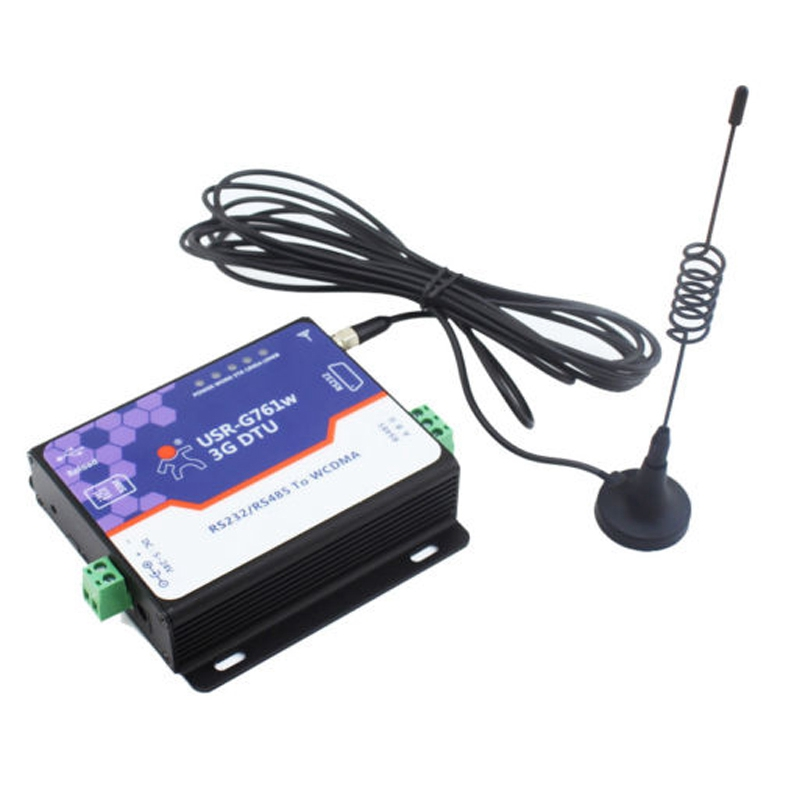 USR-G761W Free Shipping 3G DTU WCDMA Modem Serial RS232 / RS485 to WCDMA Network Support TCP and UDP, HSDPA, HTTPD Mode working good in south and north america support 850 1900mhz 3g usb rs232 modem