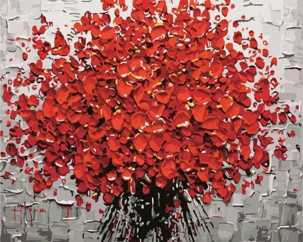 틀 그림 벽 아크릴 유화 by 번호 홈 장식 추상 드로잉 손 독특한 선물 정물 꽃