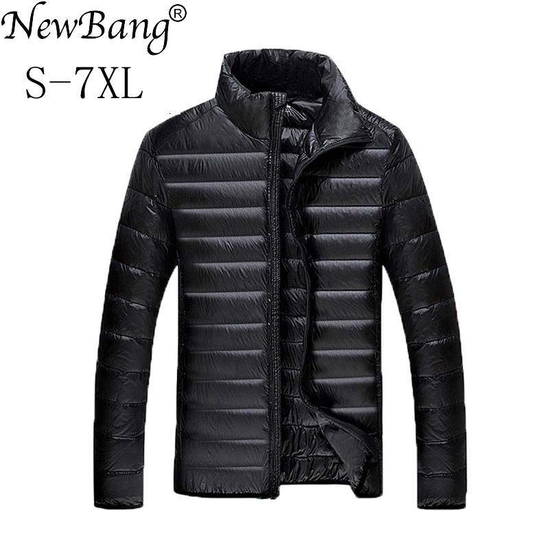 NewBang Plus 5XL 6XL 7XL Duck Down Jacket Men's Feather Ultralight For Men Park