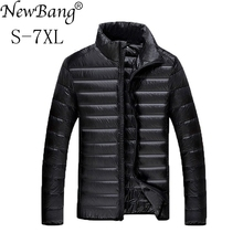 NewBang Plus 5XL 6XL 7XL Duck Down Jacket Mens Feather Ultralight Down Jacket For Men Park Outwear With Carry Bag Overcoat