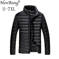 NewBang Plus 5XL 6XL 7XL Duck Down Jacket Men's Feather Ultralight Down Jacket For Men Park Outwear With Carry Bag Overcoat