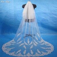 2 layer Lace Bridal Veil Cathedral Veil 3M Wedding Veil White /Ivory Veil