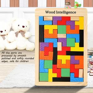 Image 2 - 3D ahşap yapbozlar Tangram Jigsaw kurulu oyuncaklar zeka çocuk bulmacaları oyuncak oyunu eğitici bebek oyuncakları ahşap hediyeler