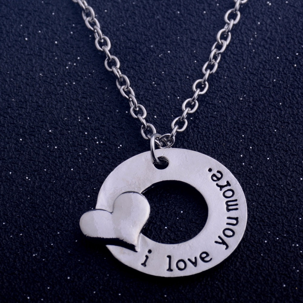 Love Heart Couple Family Lovers Pendant Necklace Valentine/'s Day Gift Jewelry