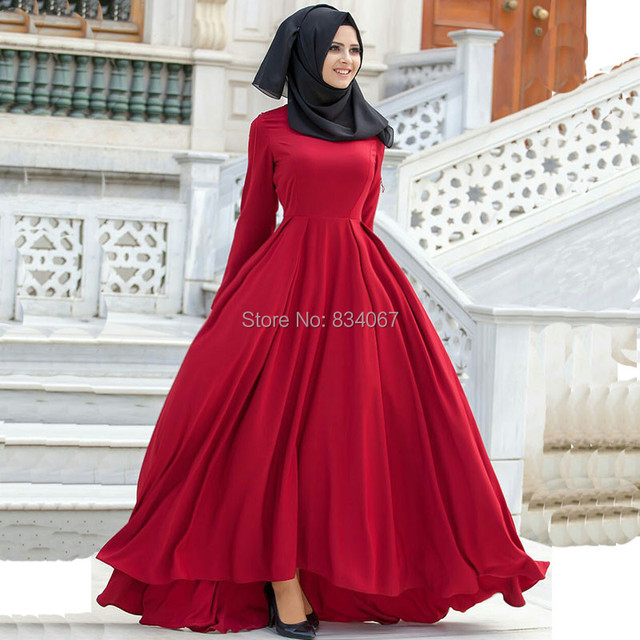 Robe de soiree pour femme en hijab