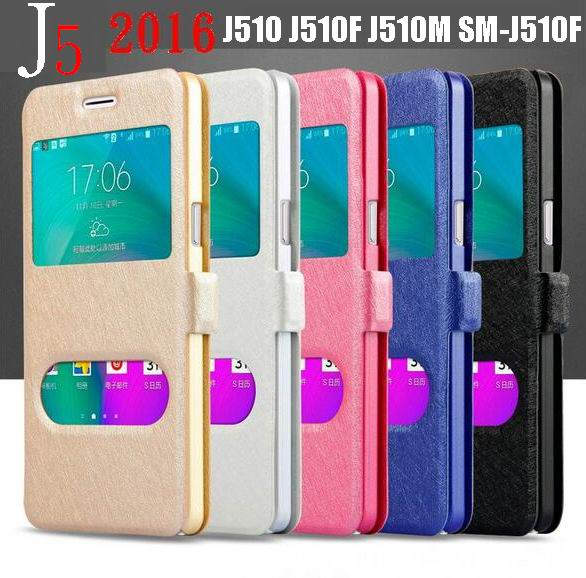 brand new 29fe4 58eca US $3.99 |Coque J5 2016 Window View Cover Touch Quick Answer Flip Case For  Samsung Galaxy J5 2016 J510 J510H J510F Capa Magnetic Clip Case on ...