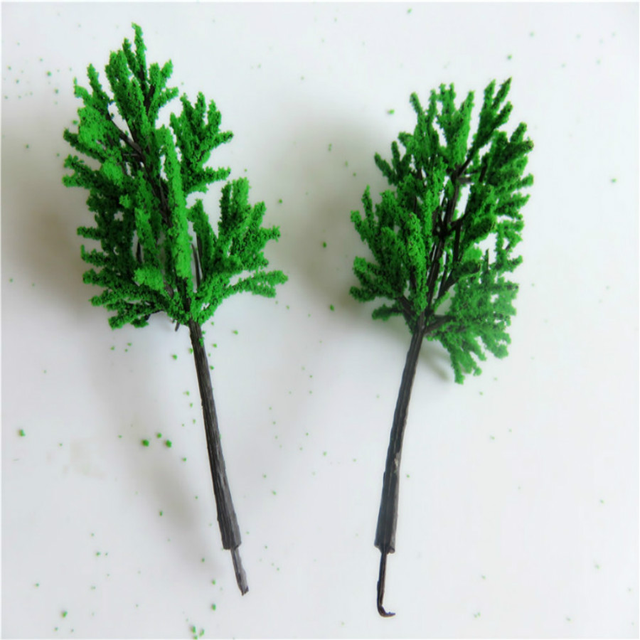 new architecture 3d scale artificial plastic model  green tree  layout269