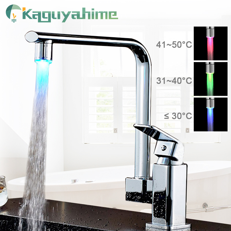 Kaguyahime LED Water Faucet Accessories Glow Colorful Tap Nozzle For Bathroom Kitchen Head Light 3 Colors 7 Colors