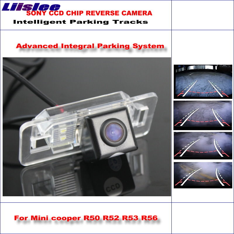 Liislee Dynamic Guidance Rear Camera For Mini cooper R50 R52 R53 R56 / 580 TV Lines HD 860 Pixels Parking Intelligentized abs wheel speed sensor rear front l r for mini cooper r50 r52 r53 34526756385 34526756384