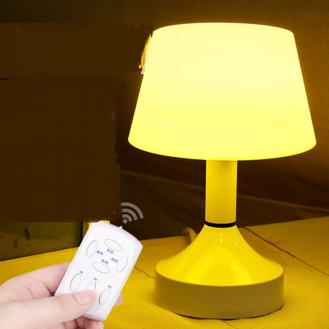 Creative USB LED Night Lights Mini Remote Control Lamp Charging Lamp  Newborn Baby Bedroom Bedside Nightlight