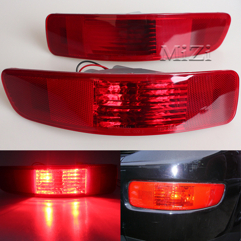 MZORANGE For Mitsubishi Outlander 2007 2008 2009 2010 2011 2012 Right And Left Tail Fog Light Lamp Rear Bumper Reflector Light rear fog lamp spare tire cover tail bumper light fit for mitsubishi pajero shogun v87 v93 v97 2007 2008 2009 2010 2011 2012 2015