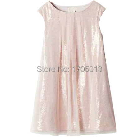ФОТО EuropeStyle Summer sequined dress foreign trade Childern Princess paillette Ruffled Hemline Girl Sequined dresses