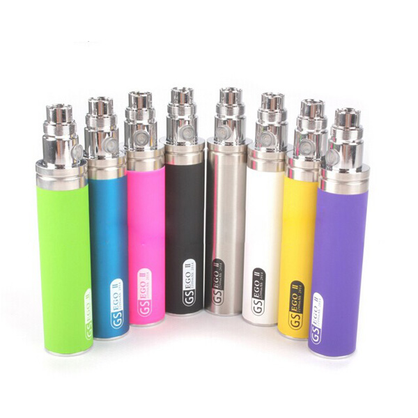 10pcs ego 2200mah mod GS Ego II Battery Huge Capacity for Vaporizer Vape Pen e cigarette for CE4 510 EGO Atomizer vapor Hookah