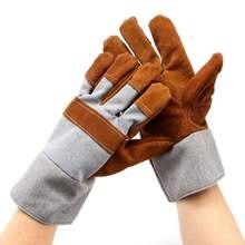 Сварки сварщиков работы мягкой натуральной кожи плюс Перчатки для защиты рук Предметы безопасности Перчатки
