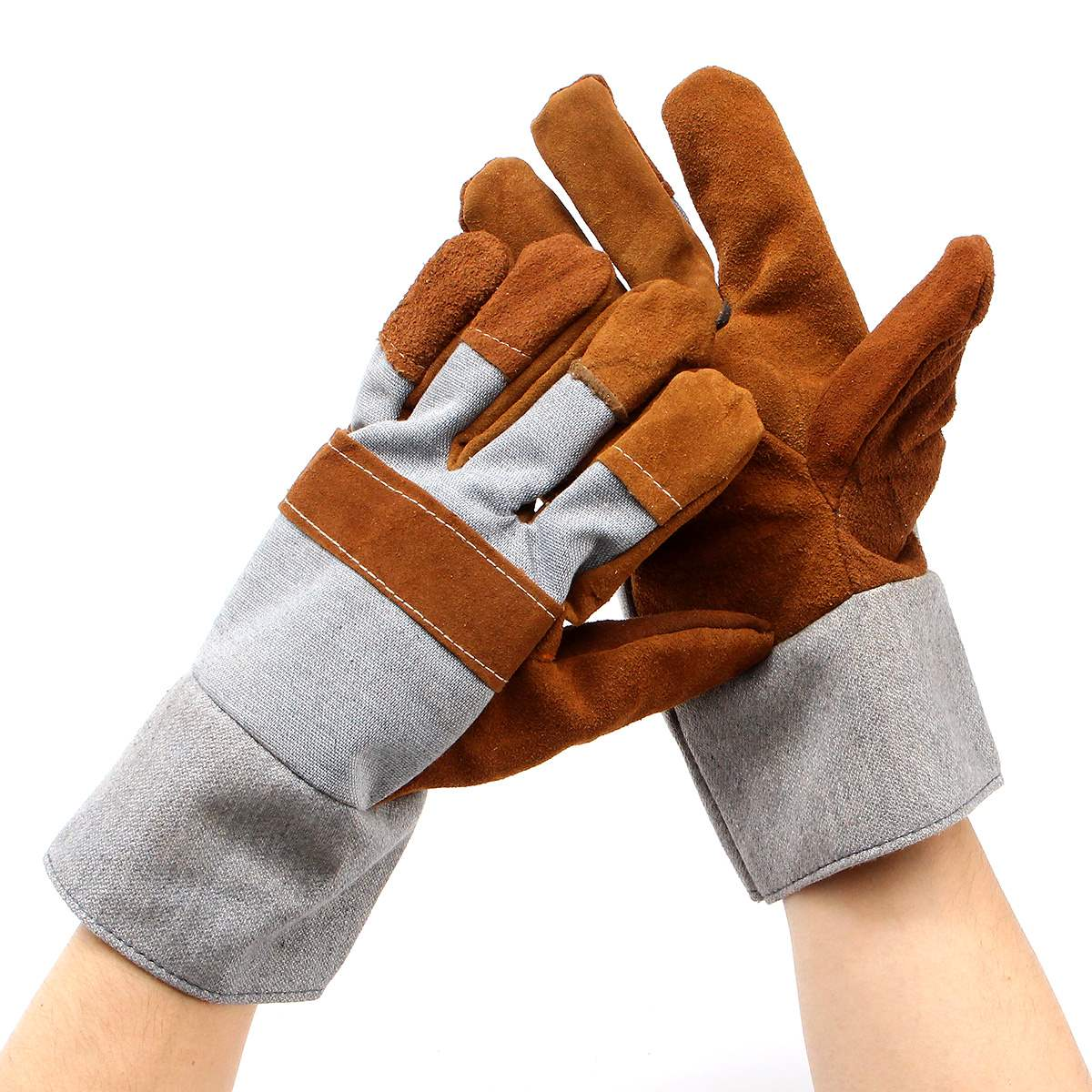 Leather work gloves for welding - Welding Welders Work Soft Cowhide Leather Plus Gloves For Protecting Hand Safety Gloves China