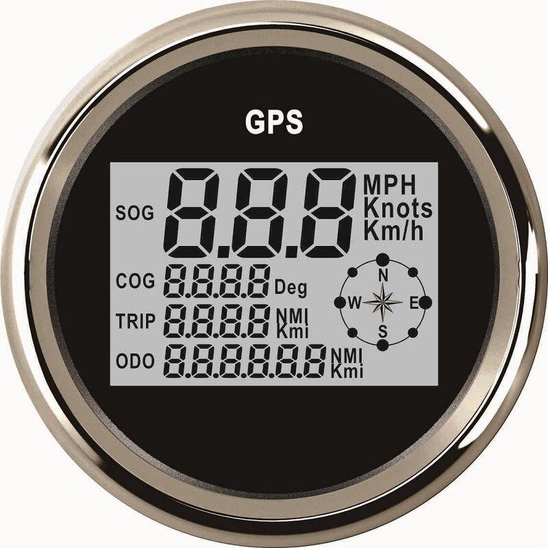 85mm Marine Boat Car GPS Speedometer LCD Display 0 999 Km h Knots MPH Adjustable Digital