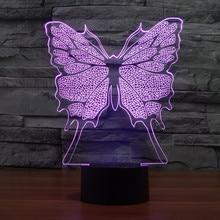 Willshi Latest Night Light 3D Lamps LED Lighting Fashion Desk Light Colorful Desk Lamps Bedside Table Lamp Butterfly LED