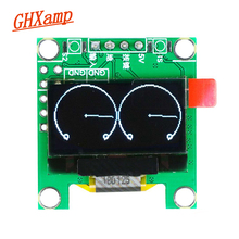 GHXAMP Mini OLED Music SpectrumจอแสดงผลMONO VU Meterตัวบ่งชี้ระดับหูฟังDIY 3.3 5V 8 Effects 0.96นิ้ว28*30มม