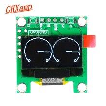 Миниатюрный дисплей музыкального спектра GHXAMP с OLED экраном, измеритель уровня УФ, самодельные наушники, 3,3 5 В, 8 видов эффектов, 0,96 дюйма, 28*30 мм