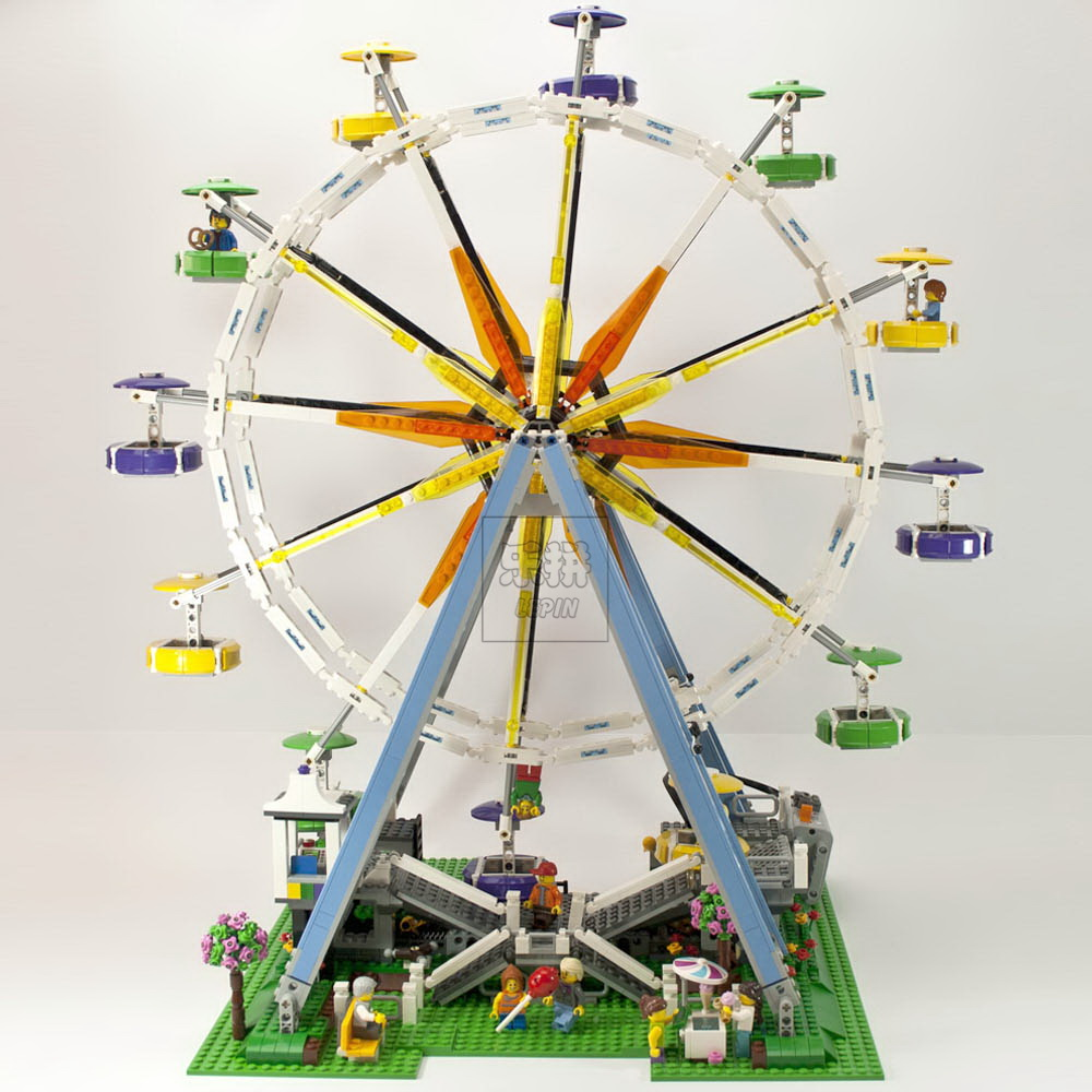 In-Stock 2518pcs New Lepin 15012 City Street Ferris Wheel Model Building Kits Blocks Toy Compatible legoed 10247 new in stock skb30 02a1