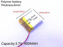 3.7V 400mAh 602626 602525 Lithium Polymer Li-Po li ion Rechargeable Battery cells For Mp3 MP4 MP5 GPS PSP mobile bluetooth