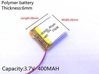 Pilas recargables de iones de litio li-po de polímero de litio de 3,7 V, 400mAh, 602626 602525, para Mp3, MP4, MP5, GPS, PSP, bluetooth móvil
