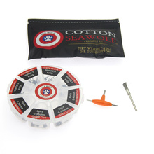 SEA WOLF Vape Cotton 8 in 1 Prebuilt Coil Kit Clapton Coil Alien Tiger Hive Quad Flat twisted Heating Wire for Vape DIY E Cig