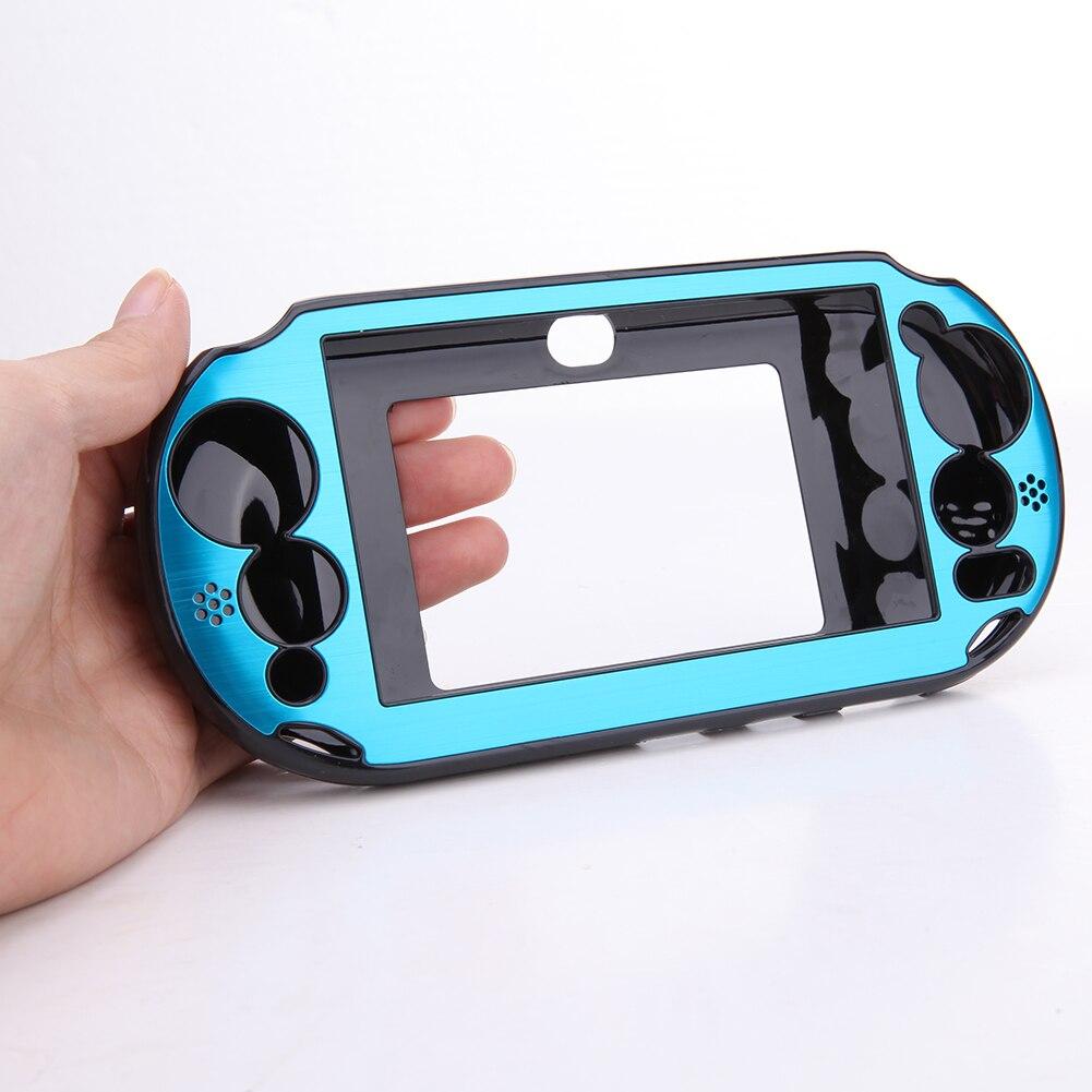 8 Colors Aluminium Metal Protector Skin Hard Protective Case Cover Shell Box For Sony PlayStation PS Vita 2000 PSV