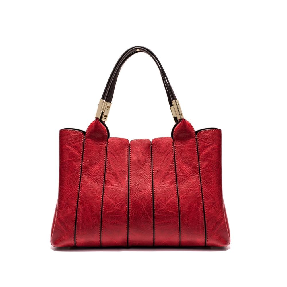 MIYACO Vintage femmes sac à main de luxe femme sac à bandoulière Messenger sac fourre-tout haut en cuir sacs à main avec gland renard sac à main - 3