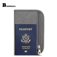 BAGSMALL Brand Waterproof Nylon Travel Pouch Bags Passport Wallet ID Card Holder Ticket Purse Credit Card