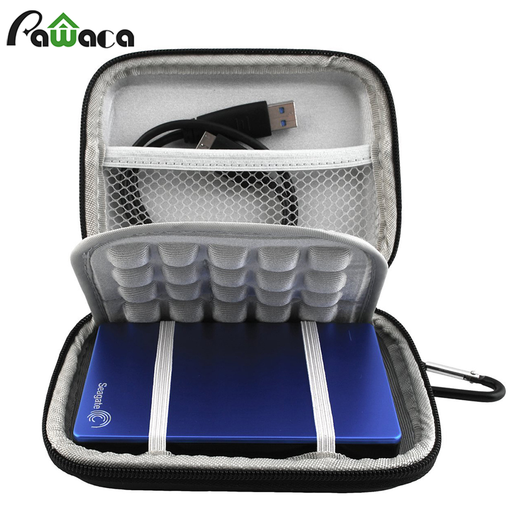 Your Homey Store EVA Shockproof Waterproof Carrying Travel Storage Bag Case Pouch For Portable External Hard Drive External Battery GPS Camera