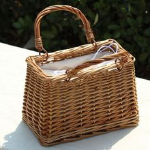 c4a17d53d256 LJL Beach Straw Bags Women Summer Handbag Rattan Square Tote Bag Handmade  Bali Woven Cross Body